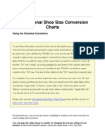 International Shoe Size Conversion Charts