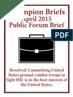 ISIL Champion Brief