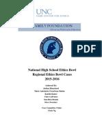 Regional Ethics Bowl Cases 2015-2016