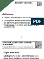Evolucion Sistematica y Taxonomia Microbiana