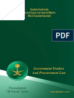 Government Tenders and Procurement Law