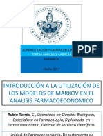 Los Modelos de Markov en El Análisis Farmacoeconómico