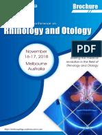 Otolaryngology 2018 Brochure