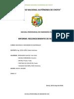 Reconocimiento de Rocas-universidad Nacional Autónoma de Chota