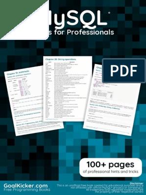 Mysql: Notes for Professionals