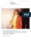 Hard Liberalism, Soft Liberalism, and the American Founding