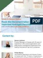 Vaisala Webinar Room Bio Decontamination Vaporized h2o2 180125150404