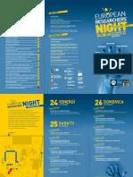 Pieghevole European Researches'Night Weekend Della Ricercaa
