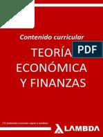 Teoria Economica y Finanzas - Contenido Curricular 2018 II