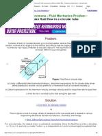 Transport Phenomena Fluid Mechanics Problem Solution BSL _ Newtonian Fluid Flow in a Circular Tube
