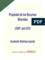Humberto Martinez-Propiedad de Los Minerales