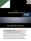 Cost Benefit Analysis. (CBA) Pptx