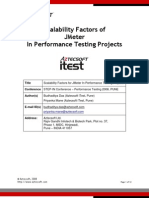 Scalability Factors of JMeter in Performance Testing projects