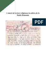 Comori de Scriere Religioasa in Arhiva de La Radio Romania