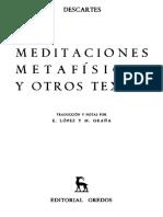 Rene Descartes Meditaciones Metafisicas 1 2 y 3