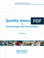 QA in Bacteriology and Immunology WHO