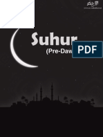 Suhur Predawn Meal Black White Flyer in a Printable Form