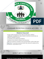 CONSUMER PROTECTION COUNCIL 1992
