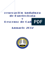 Federación Andaluza de Espeleología - Anuario año 2018
