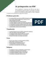 Problemas de preimpresión con PDF