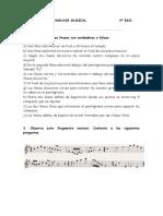 Ejercicios de Lenguaje Musical 4º
