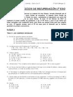 Actividades Matemáticas Refuerzo 1eso