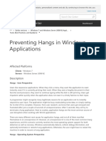 Preventing Hangs in Windows Applications Windows
