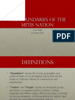Boundaries of the Metis Nation