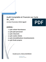Audit Comptable Et Financier Par Cycle- S8 ACG ENCGA