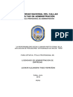 Tesis 1 La Responsabilidad Social e Imagen Institucional de La Asociación de Pescadores Artesanales de Ancón Perú