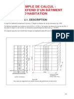 Exemple de Calcul Mur de Refend d'Un Bâtiment d'Habitation
