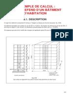 Exemple de Calcul Mur de Refend d'Un Bâtiment d'Habitation