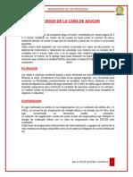Balanc de Materia Descripcion de Proceso