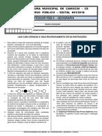 CONCURSO PROFESSOR DE GEOGRAFIA- CATEGORIA II - PREFEITURA DE CAMOCIM/CE