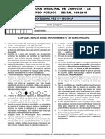 CONCURSO PROFESSOR DE MÚSICA CATEGORIA II - PREFEITURA DE CAMOCIM/CE