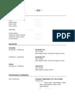 CV standard template.doc