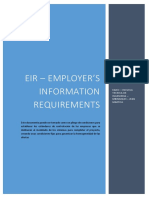 EIR - EMPLOYER´S INFORMATION REQUIREMENTS_BIM
