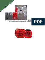 Estudio de Mercado Para La Comercializacion de Conserva de Fresas en Almibar
