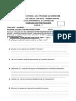 Examen de Auditoría Financiera i Unidad Grupo p