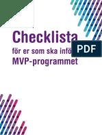 MVPSTÖD - checklista