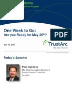 GDPR Compliance Privacy Insight Webinar | TrustArc