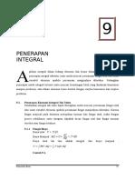 Bab 9 Penerapan Integral