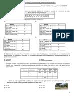Evaluación diagnóstico MATEMÁTICA