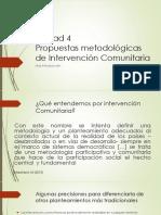 Unidad 4_propuestas Metodológicas de Intervención Comunitaria