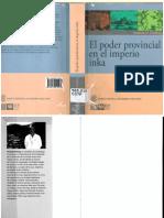 2015 Terence N. D Altroy. El Poder Provincial en El Imperio Inka