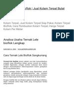 Analisa Usaha Ternak Lele Bioflok Lengkap _ Kolam Terpal Bioflok _ Jual Kola (1)