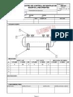 MRE-001Rev0 Registro de Control de Monatje de Equipos y Reci