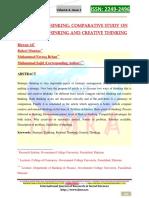 2014-Strategic Thinking; Comparative Study on Rational Thinking and Creative Thinking