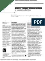 2002-Strategic Thinking Versus Strategic Planning