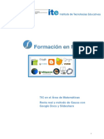 11 Recta Real y Metodo de Gauss Con Google Docs y Slideshare